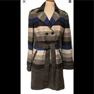 Nordstrom Classiques Bold Stripe Trench Coat. New